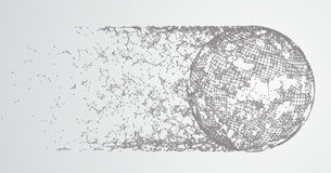 Abstract Background Connected Dots Comet Stock Image