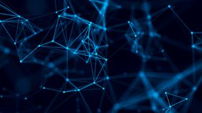 Abstract background with connecting dots and lines. Network connection structure. 3D rendering stock illustration