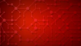 Abstract background of connecting lines and dots. With shadows in red colors Vector Illustration