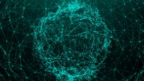 Abstract background with connection dots. Digital sphere stock illustration