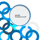 Abstract background consisting of blue overlapping circles.the background design eps10 Stock Image