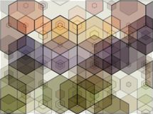 Abstract background consisting of brown hexagons, vector illustration. Abstract background of brown hexagons vector illustration