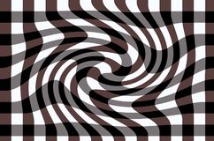 Abstract background consisting of a checkered surface with a slight twisting. Abstract background consisting of a checkered surface with a slight twisting in a royalty free illustration