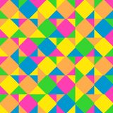 Abstract background consisting of colored squares and triangles. Vector stock illustration