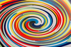 Abstract background consisting of concentric circles in saturated colors royalty free stock photography