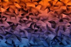Abstract background consisting of 3D triangles Stock Photography