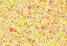 Abstract background consisting of different size colored circles. Vector Royalty Free Stock Photos
