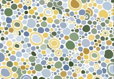 Abstract background consisting of different size colored circles. Vector Royalty Free Stock Image