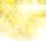 Abstract background consisting of geometrical shapes. Yellow triangle Stock Image