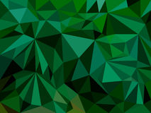 Abstract background consisting of green triangles. Vector illustration Stock Photography