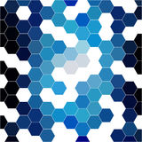 Abstract background consisting of hexagons Royalty Free Stock Photos