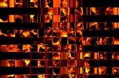 Abstract background consisting of many different shapes of a fiery color. Abstract background consisting of many different rectangular figures of a fiery color Royalty Free Stock Photos