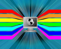 Spectrum and the computer Royalty Free Stock Images