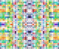 Abstract background consisting of  squares Stock Photo