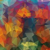 Abstract background consisting of triangles. Abstract Dark polygonal illustration, which consist of triangles. Geometric backgroun. D in Origami style with royalty free illustration