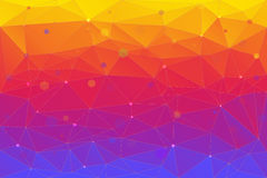 Abstract background consisting of triangles Stock Photos