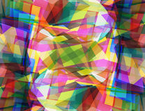 Abstract background consisting of triangles. Colorful design stock illustration