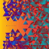 Abstract background consisting of triangles. Colorful abstract background consisting of triangles with gradient fill Stock Images