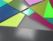 Abstract background consisting of triangles Royalty Free Stock Photos