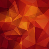 Abstract background consisting of triangles. Geometric design for business presentations or web template banner flyer. Vector illustration. Red, brown, orange stock illustration