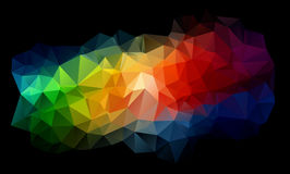 Abstract background consisting of triangles. Illustration Stock Photos
