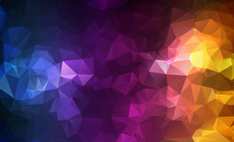 Abstract background consisting of triangles. Illustration Stock Image