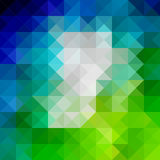 Abstract background consisting of triangles. Spectrum abstract background Stock Photo