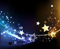 Abstract background with contrasting stars Royalty Free Stock Images