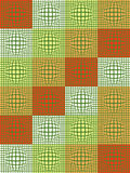 Abstract background with convex shapes. Green and orange Stock Images