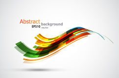 Abstract background. Cool abstract wave shaped stripes. EPS10 vector background Royalty Free Stock Photography