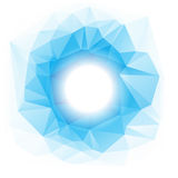 Abstract background with copy-space. Abstract blue and white background with geometrical shapes and gradients. Circle with copy-space Stock Photography