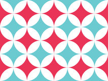 Abstract background. Coral and blue circles seamless pattern. Vector background Stock Photos