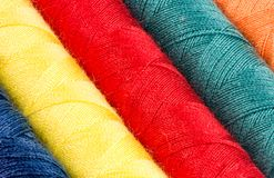 Abstract background of cotton yarn bobbins Royalty Free Stock Image