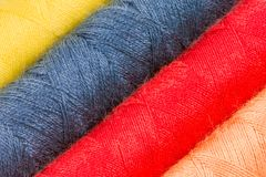 Abstract background of cotton yarn bobbins Stock Images