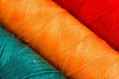 Abstract background of cotton yarn bobbins Stock Photos