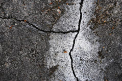 Abstract background. crack in the old, blackened by time and dam Stock Photography