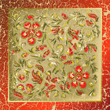 Abstract background with cracked floral ornament. Abstract background with cracked red floral ornament Royalty Free Stock Photos