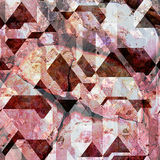 Abstract background of cracked pyramidal blocks Royalty Free Stock Photo