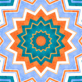 Abstract background. Crazy colorful lines star -  blue, orange and white  background Royalty Free Stock Photography