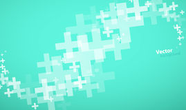 Abstract background created with plus sign. Vector art Royalty Free Stock Image
