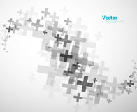 Abstract background created with plus signs. Horizontal version Royalty Free Stock Images