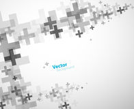 Abstract background created with plus signs. Horizontal version Stock Photography