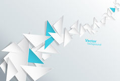 Abstract background created with triangles. Vector art Stock Images