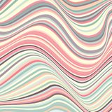 Abstract background with crooked lines. The curvature of space. Movement of geometric forms Royalty Free Stock Image