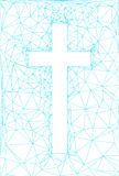 Abstract background with cross. In blue lines royalty free illustration