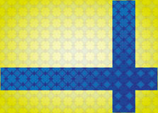 Abstract background Cross linked. Decorated in yellow and blue Stock Photo