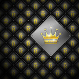 Abstract background with crown. Leather upholstery. Vector illustration eps 10 Vector Illustration