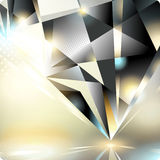 Abstract background with a crystal. Eps10. Royalty Free Stock Photo
