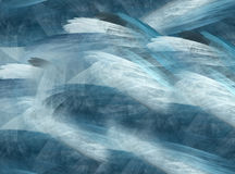 Abstract background crystal, fractal. Abstract fractal background of the crystal in sea colours Royalty Free Stock Photo