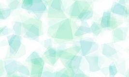 Abstract background with crystal shaped blue shades. Overlay Stock Image